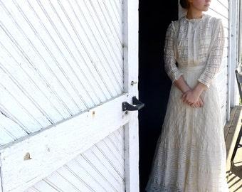 Edwardian Silk and Lace Tea Dress XS XXS