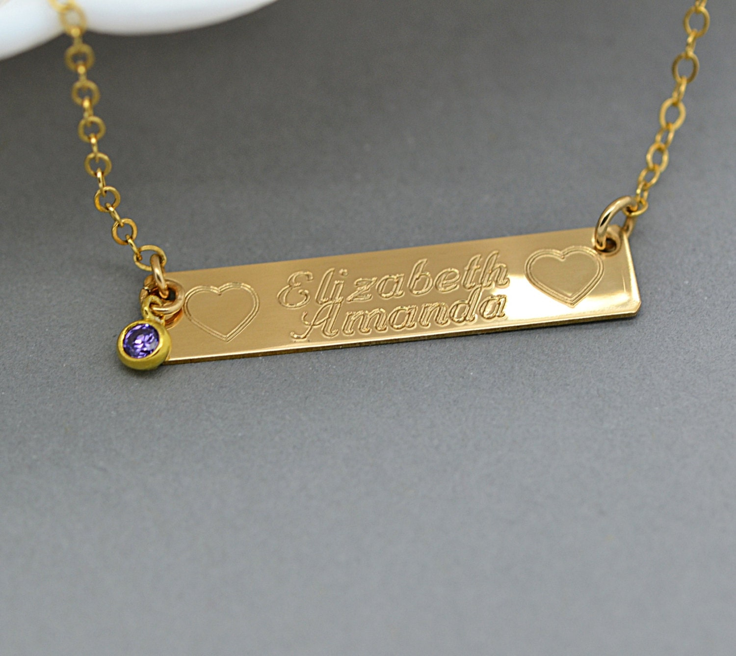 bar name necklace gold bar necklace personalize bar