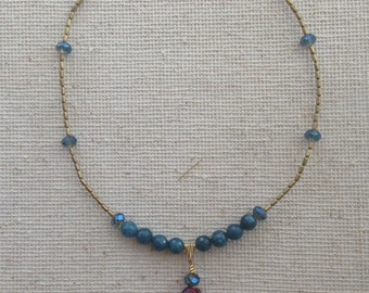 Hipster Pendant Necklace = Bohochic Necklace + Ruby Tuesday Crystal Necklace