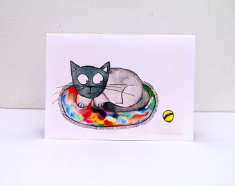 Happy birthday CARD from cat Greeting cards Birthday Card funny Happy birthday funny Birthday card with cats Birthday cards from cats