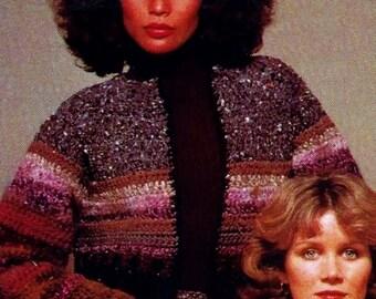 Crochet Tweed Jacket and Skirt Vintage Crochet Pattern Download