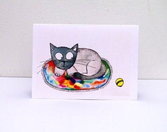 Happy birthday CARD Birthday Funny Birthday card Greeting cards Funny cat birthday card Greeting card Funny card Simple cards Paper goods
