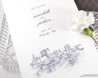 Columbus Skyline Wedding Programs (set of 25 cards)
