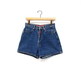 90s High Waisted Classic Wash Denim Jean Shorts 28