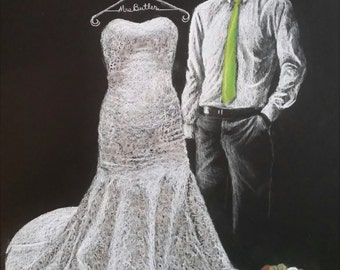 """Custom Hand drawn Pencil sketch of your """"SPECIAL DAY"""""""