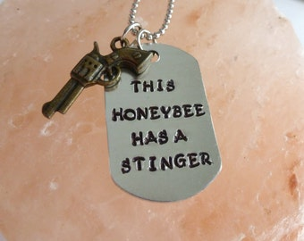 Gifts for Her Cowgirl Gifts Country Girl Jewelry Conceal Carry Women Gun Necklace Hand Stamped Jewelry