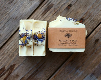 Grapefruit Basil Soap - All Natural Soap, Cold Process Soap, Handmade Soap, Vegan Soap, Organic Soap, Essential Oil Soap, Natural Soap
