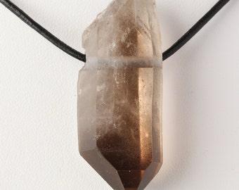 Natural Brazilian Smoky Quartz Crystal Pendant