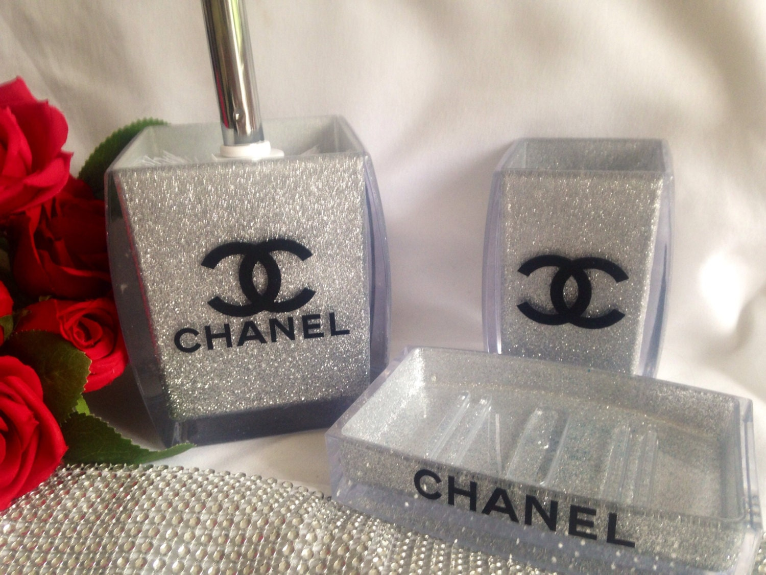 chanel inspired bathroom set chanel vanity set chanel by