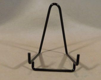 A SMALL BLACK Easel Display Stand for Plates, Fossils and More!
