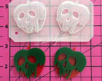 ON SALE Poison Apple flexible plastic resin mold set  (2 cavity)