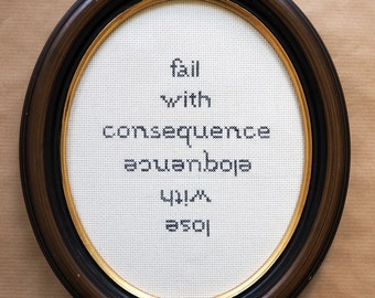 Embroidery image cross stitch the Notwist consequence