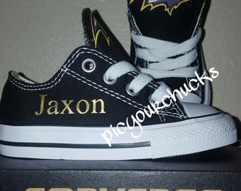 Toddler/Kids Baltimore Ravens Converse