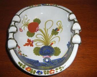 Mid Century Italian Art Pottery Hand Painted Ashtray