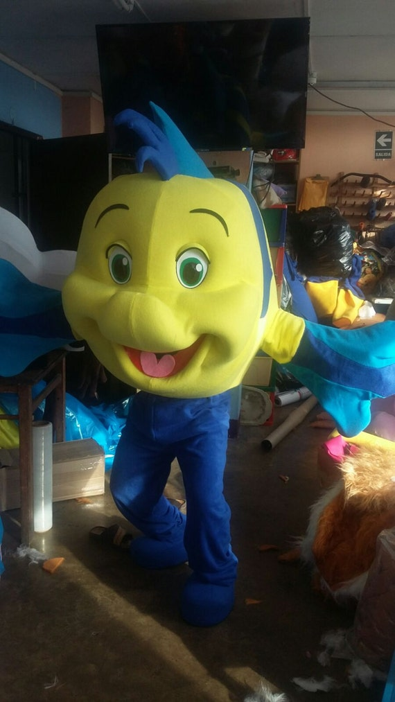 Flounder fish mascot costume adult costume by for Fish costume adult