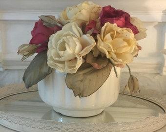 Vintage Ironstone Fluted Vase or Decorative Bowl~Adorable!