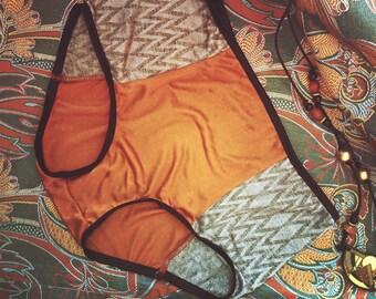 High waist silk panties Metropolis Day by Pernowka
