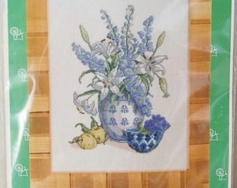 Eva Rosenstand Flowers in Blue Kit Clara Waever Permin Copenhagen Danish Art
