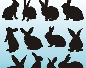 Bunny rabbit clipart | Etsy