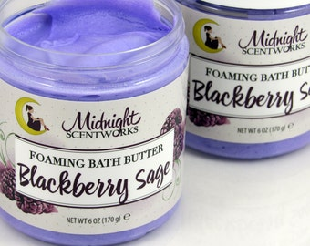 Whipped Soap - Blackberry Sage - Whip Soap - Cream Soap - Gift for Her - Gift for Mom - Foaming Soap - Bath Whip - Shave Soap -
