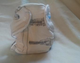 Star Wars Millennium Falcon Fitted Diaper