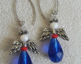 Patriotic Angel Earrings
