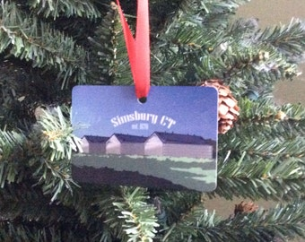 Ornament - Tobacco Barns of Simsbury, CT