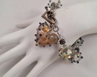 Polka Dot Lampwork Bracelet