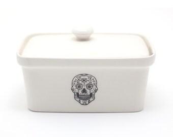 Butter Dish - Sugar Skull