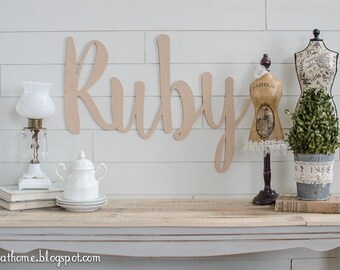 CUSTOM word Cutout, Pick a Child's Name, Last Name or your favorite word!