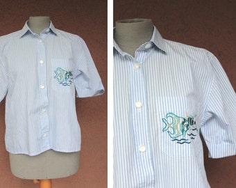 Jacques Fath Paris Stripped Shirt - Size S/ M