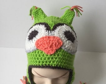 Owl hat, baby hat, child's hat
