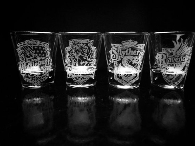 Harry Potter House Crest Shot Glasses Set Of 4 By