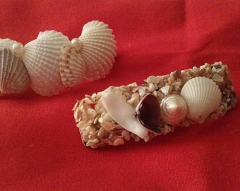Seashell Hair Clip, Coastal Hair Clip, Nautical Hair Clip, Hair Accessory