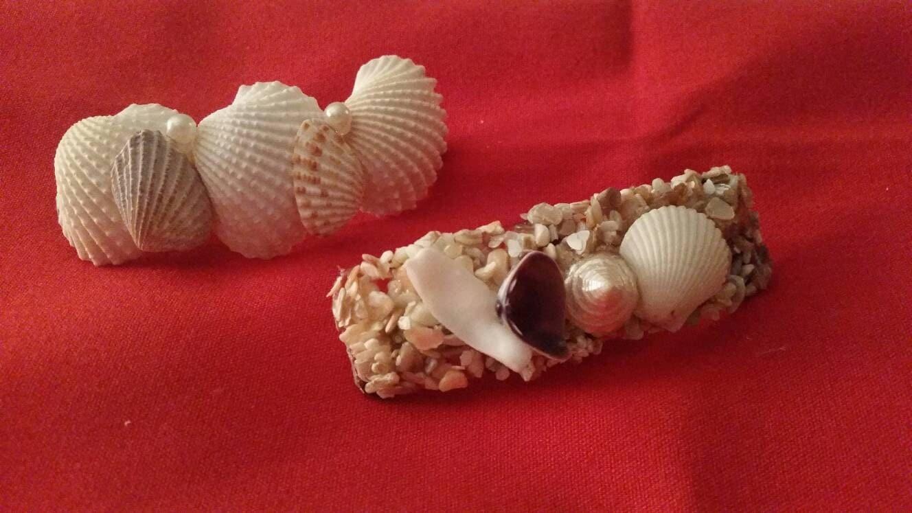 Seashell hair clip coastal hair clip nautical hair clip for Seashells for hair