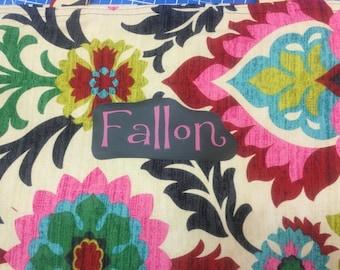 Custom Nap Mat Cover, Kinder Pre-School Kindergarten, portable all-in-one, optional monogramming: You Choose Fabrics!