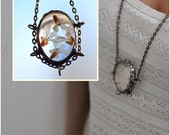 terrarium necklace real flowers jewelry  glass necklace  nature  rustic pendant  unique  pendant necklace romantic pendant one of a kind