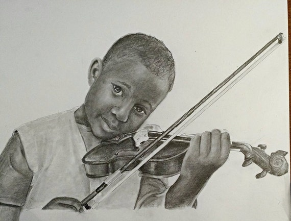 Custom pencil drawing from your photo. Drawn by an Award-Winning Artist! Free shipping.