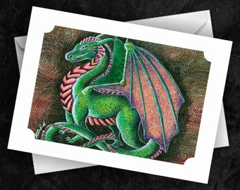 Dragon - 7x5 Folded Greetings Card