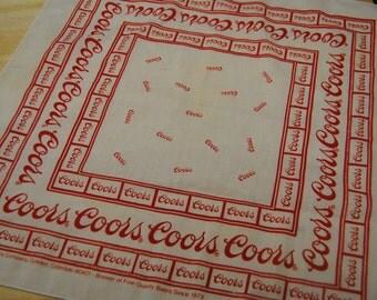 Vintage Coors Beer Bandana/1983