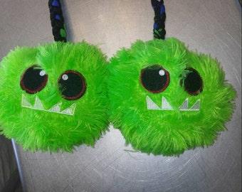 Green Fuzzy Monster Poi