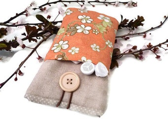 Floral case  Motorola Moto X Play,  Moto G , Moto E  Pouch,  Sleeve  - Cell phone cover with floral pockets