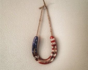 American Flag Horseshoe