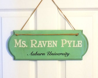 Teacher Gift: Customizable Name Door Hanger - Teacher Door Decor - Teacher Name Door Hanger