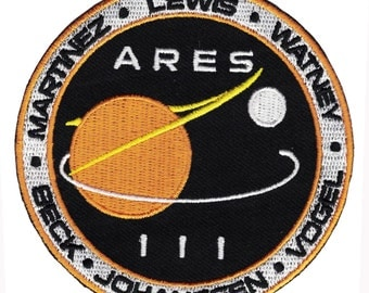 Sci Fi Movie The Martian Ares III Mission Matt Damon Patch