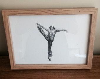 Customized Pencil Drawing: Ballerina