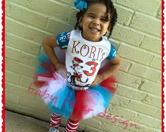 Character themed tutu with coordinating fabric sleeve