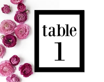 Printable Table Numbers 1-40 // Table Number // 5x7, 4x6, 8x10 Table Numbers Wedding // Wedding Printables // Instant Download // WBWD8
