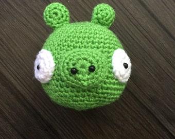 Amigurumi Green Pig : Peppa pig inspired family daddy pig mommy pig peppa george