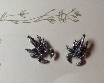 Sterling Silver Medium Scorpion Stud Earring(s)